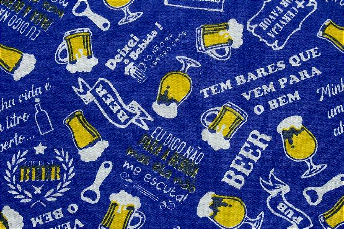Tricoline Bar fundo Azul  ( 0,50 m x 1,40 m )