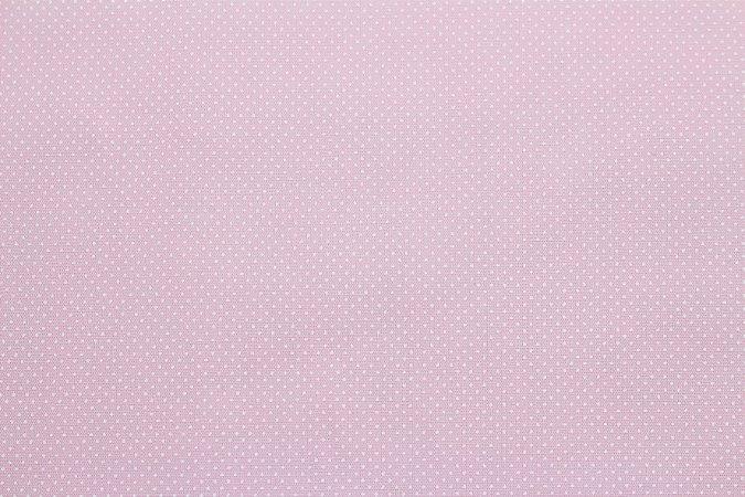 Tricoline Micropoá Branco fundo Rosa Bebê ( 0,50 m x 1,40 m )