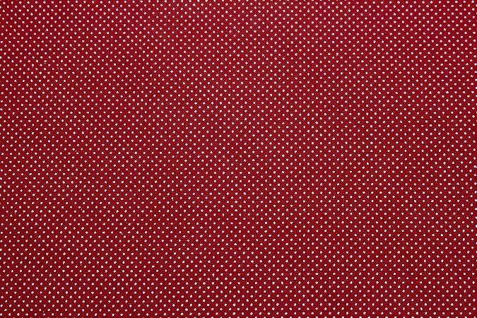 Tricoline Micropoá Branco fundo Vermelho ( 0,50 m x 1,40 m )