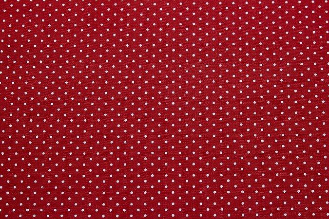 Tricoline Poá Branco fundo Vermelho ( 0,50 m x 1,40 m )