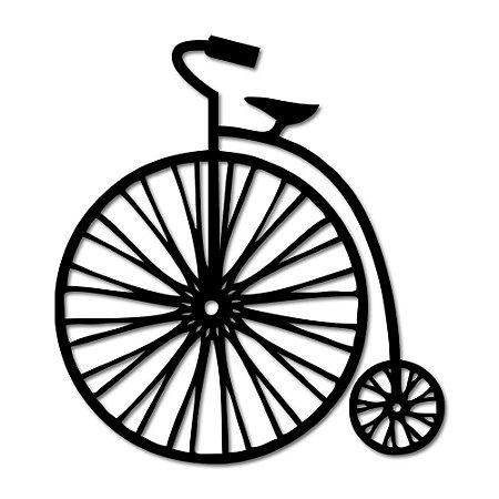 Aplique de Parede Minimalista Bicicleta Antiga Em Madeira