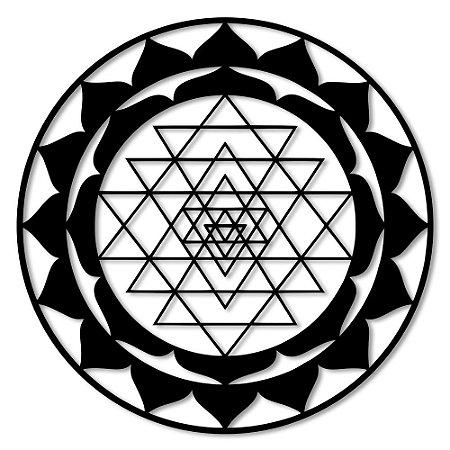 Aplique de Parede Mandala Triângulos Em Madeira