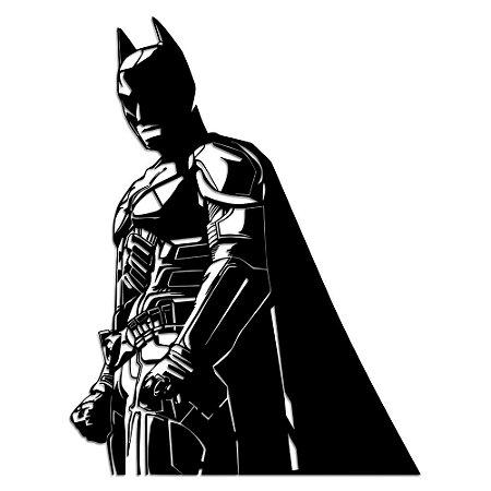 Aplique de Parede Geek Batman DC Em Madeira