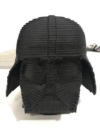 Cabeça do Darth Vader 3D em MDF Preto 17cm
