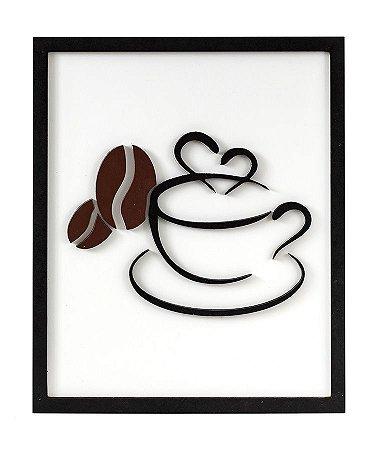 Quadro para cozinha tema Café Coffee madeira mdf em relevo