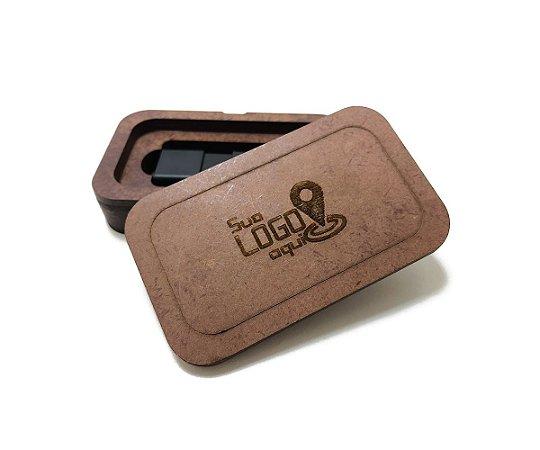 Case Porta Pen Drive Personalizado Café