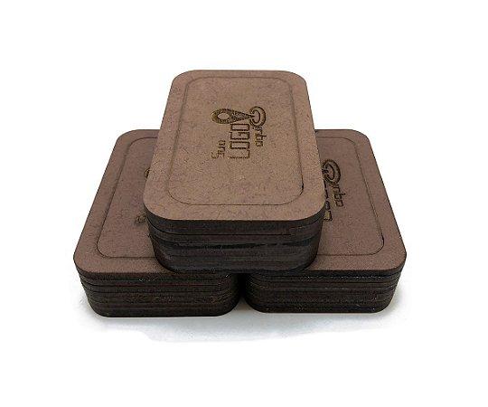 Case Porta Pen Drive Personalizado Kit 10 Unidades Café