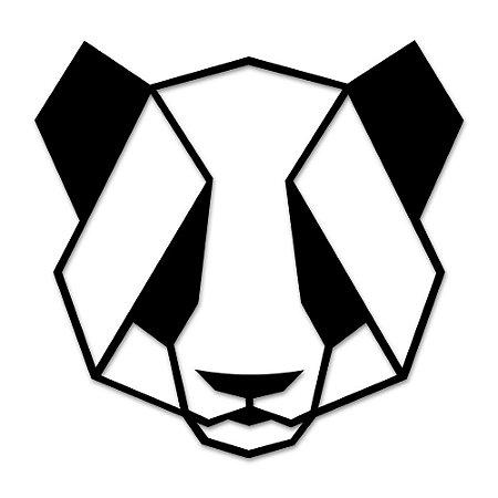 Aplique de Parede Geométrico Panda Em Madeira