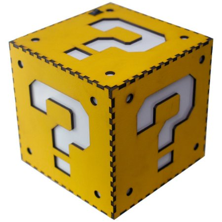 Luminária Question Block Super Mario Bros