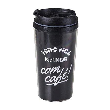 Copo térmico pop - Tudo fica melhor com café