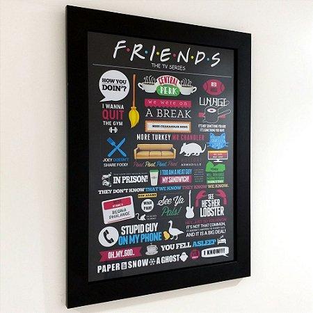 Quadro com moldura Friends - The TV Series