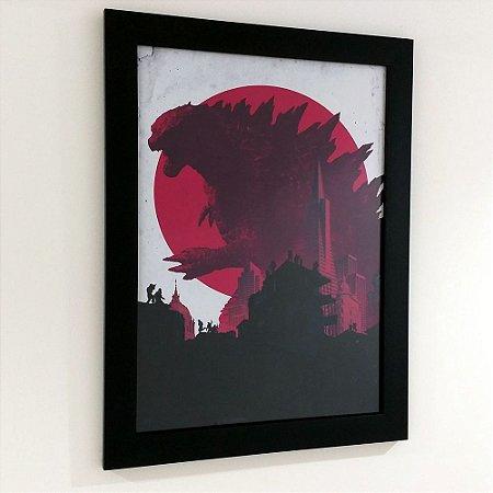 Quadro com moldura Godzilla