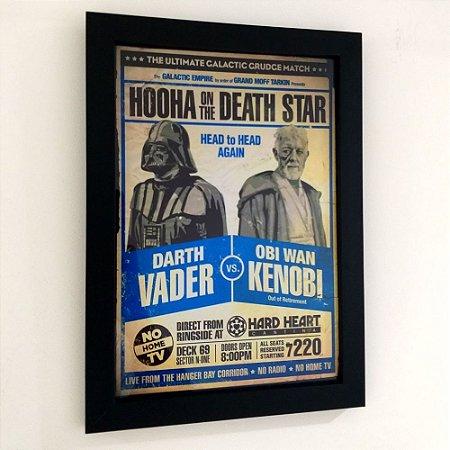 Quadro com moldura Star Wars - Darth Vader vs Obi Wan
