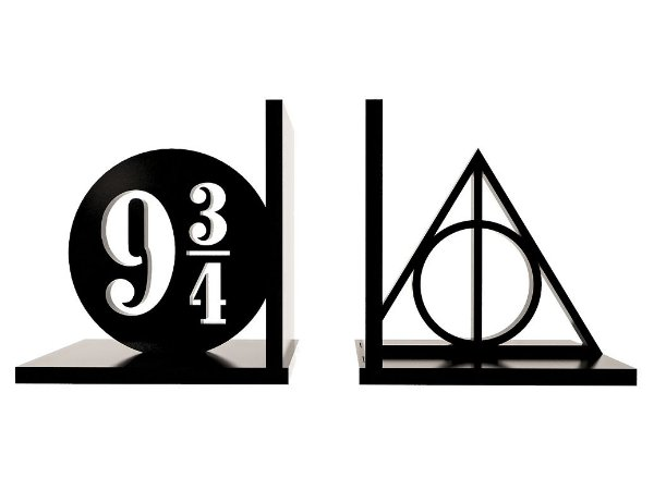 Aparador de Livros Harry Potter Relíquias da Morte e Plataforma 9 3/4