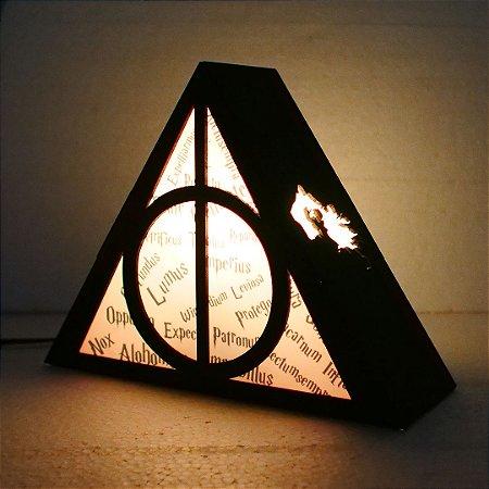 Luminária Harry Potter – Relíquias da Morte