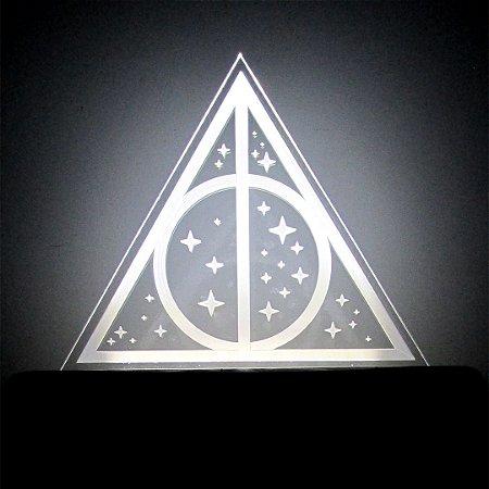 Luminária Relíquia da Morte Harry Potter