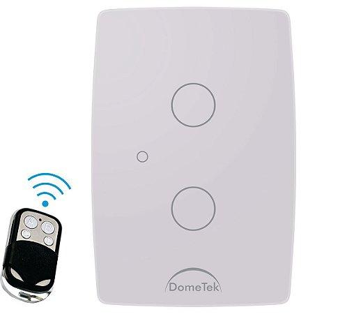 Interruptor Touch Rf 2 Vias Botões Pads Sense Paralelo Three Way - Dometek