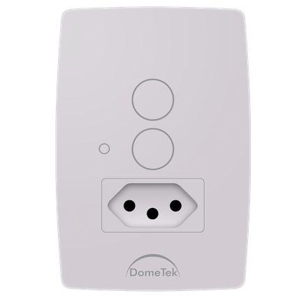 Interruptor Touch 2 Vias + Tomada Botões Pad Sense Paralelo Three Way - Dometek
