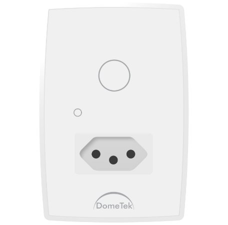 Interruptor Touch 1 Via + Tomada Botão Pad Diamond Paralelo Three Way - Dometek