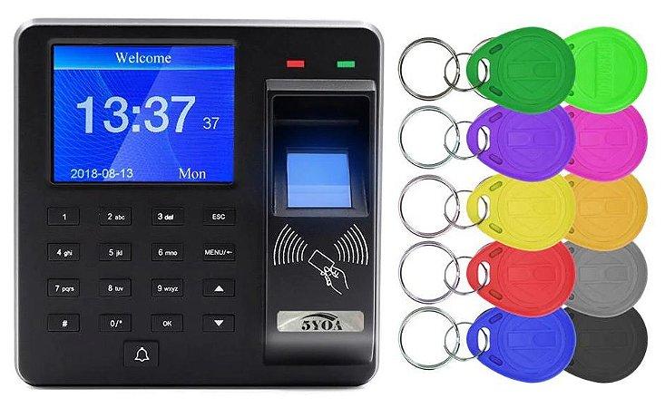 Controle Acesso Biométrico C/ Visor Impressão Digital Chaveiros