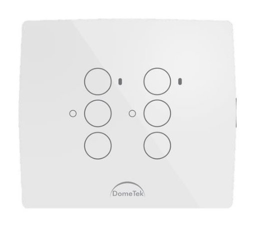 INTERRUPTOR TOUCH 6 VIAS BOTÕES PADS DIAMOND 4X4 PARALELO THREE WAY - DOMETEK