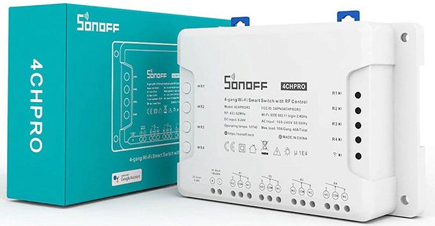 Sonoff 4ch Pro Canais R3 Interruptor Wifi RF 433mhz