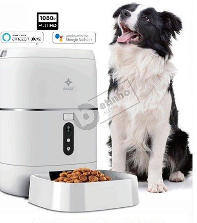 Nutri Alimentador PRO Inteligente Automático Câmera Google Alexa