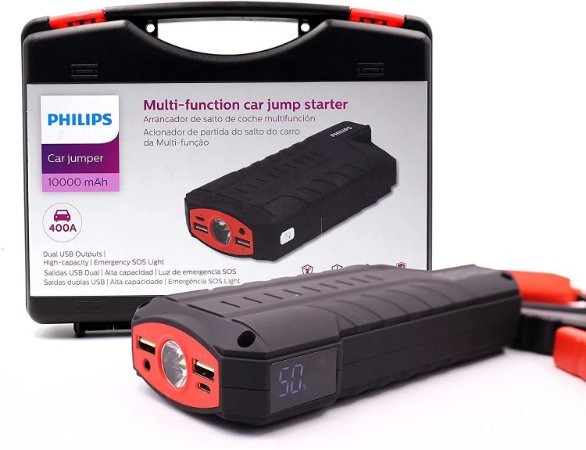 Auxiliar De Partida Veicular Philips 10000mah Car Jumper