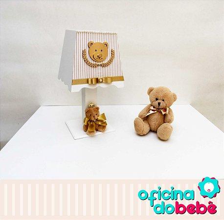 Abajur - Urso da Realeza - Dourado Listrado - 200614