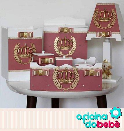 Kit Higiene MDF Completo Rosê Escuro - 400616