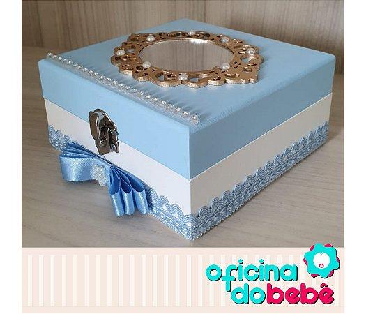 Caixa de Lembrancinhas - Azul com espelho