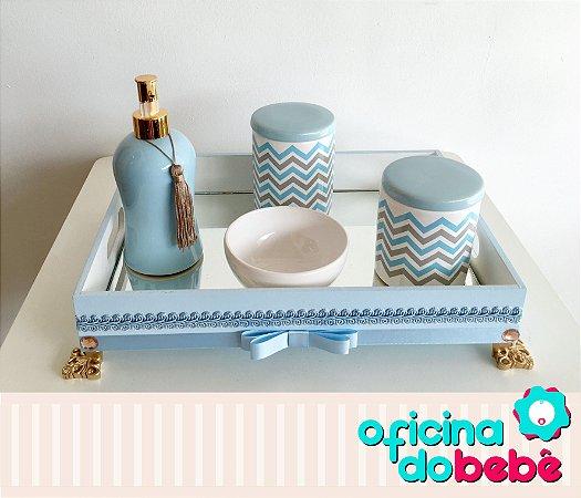 Bandeja Espelhada com Kit de Porcelana - 03