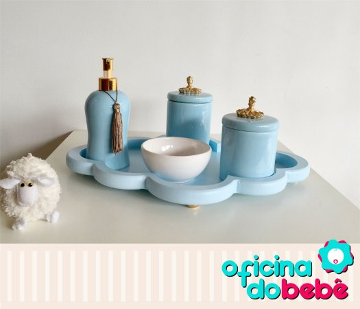 Bandeja nuvem com Kit de Porcelana - 03