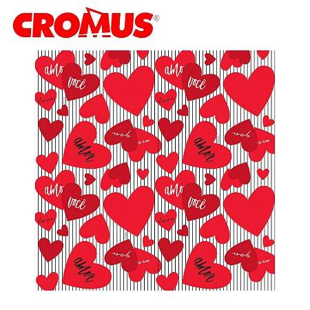 Saco de Presente CROMUS - Amo Você Vermelho