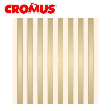 Saco de Presente CROMUS - Listrado Marfim/Ouro