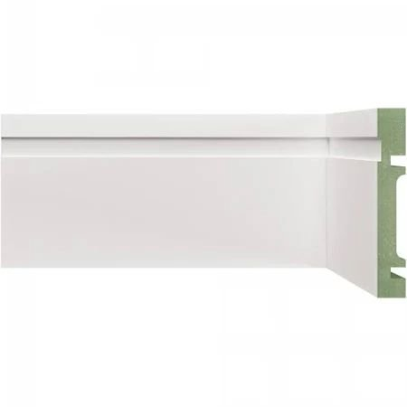 Rodapé e Guarnição Branco em MDF 10cm ULTRA com friso moderno - preço por barra com 2,40 metros lineares * com vão para passar fio