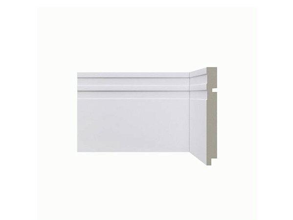 Rodapé Santa Luzia Branco 15cm modelo 513 - preço por barra com 2,40 metros lineares