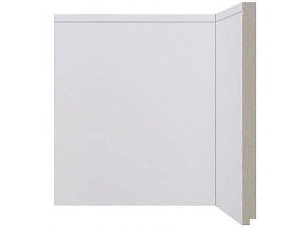 Rodapé Santa Luzia Branco 25cm modelo 520 - preço por barra com 2,40 metros lineares