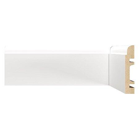 Rodapé e Guarnição Branco em MDF 08cm - modelo 804 -preço por barra com 2,40 metros lineares * com vão para passar fio
