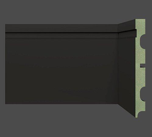 Rodapé e Guarnição MDF Ultra 15 cm 1502 resistente à umidade BLACK / PRETO - preço por barra com 2,40 metros lineares