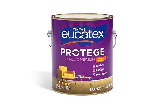 Eucatex Acrílico Fosco Protege Premium 3,60 lt Branco rende até 80m² por demão