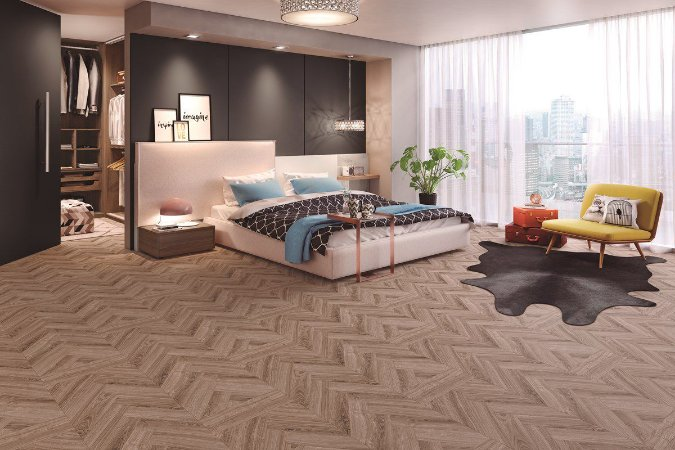 Piso Laminado Eucafloor Gran Elegance encaixe 2G novo CLICK London - preço por caixa com 2,41 m²
