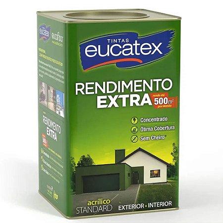 Eucatex Acrílico Rendimento Extra lata 18 lts Gelo Fosco rende até 500m² por demão