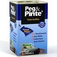 Tinta Acrílica Eucatex Peg & Pinte lt 18 lts Pérola Taiti rende até 360 m2 por demão
