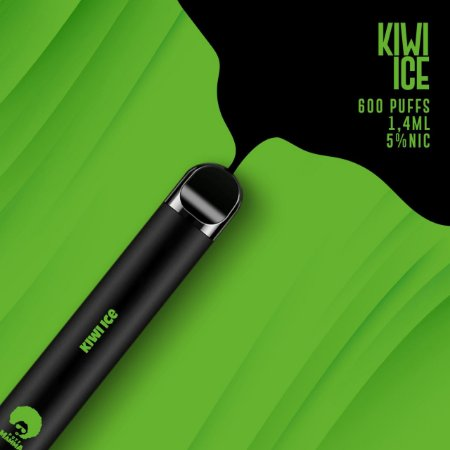 Pod descartável Puff Mamma- Fix - 600 Puffs - Kiwi Ice