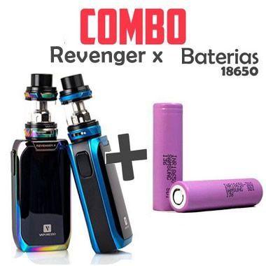 Combo Vape- 1 Kit Revenger X Com 2 Baterias 18650