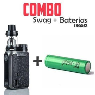 Combo Vape - 1 Kit Swag 80W + 1 bateria 18650