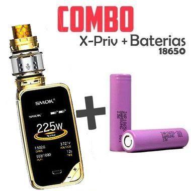Combo Vape - 1 KIT X-Priv Com 2 Baterias 18650