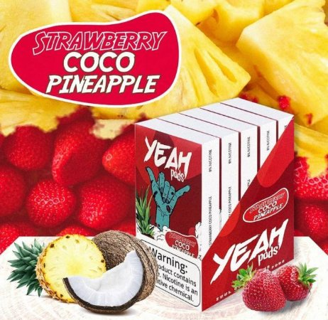 Yeah Pods Strawberry Coco Pineapple - Compatíveis com JUUL - YEAH