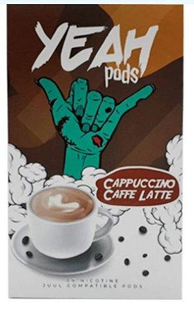 Yeah Pods De Reposição Cappuccino Cafe Latte - Compatíveis com Juul - Yeah